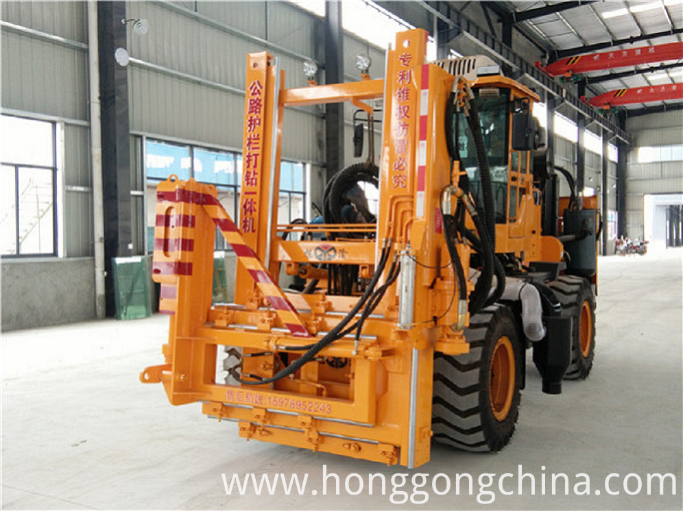 Highway guardrail Piling Machine