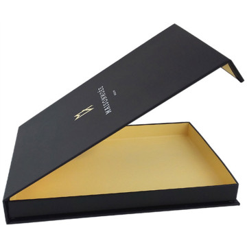 Custom Black Color Simple Design T-shirt Paper Box
