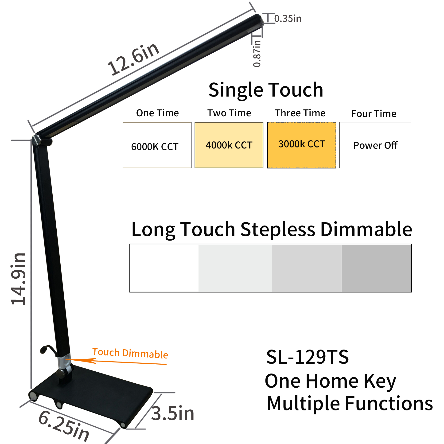 Dimmable Touch Lamp