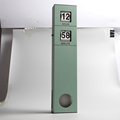 Long Pendulum Wall Flip Clock Green