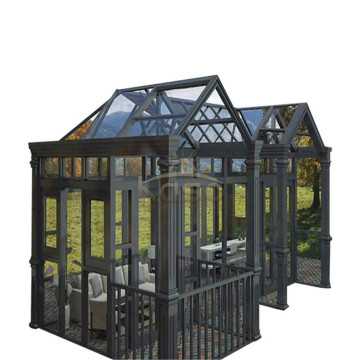 Wood Plastic House Curved Glass Aluminum Sun Room