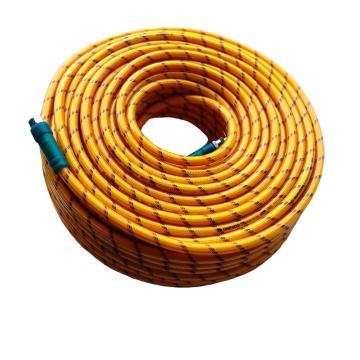 yellow transparent braided hose 8.5mm