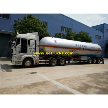 62cbm Tri-axle Used Propane Semi Trailers