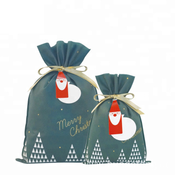 Christmas Green Drawstring Bag Ideas For Wrapping Gift