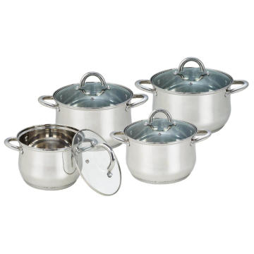 8 Piece Cookware Set Stainless Steel