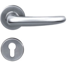 China supplier OEM for China Solid Door Handle On Plate,Solid Door Handle On Rosettes,Casting Door Handle,Solid Lever Handle Manufacturer Stainless Steel 304 Steel Gate Door Handle supply to Armenia Manufacturer