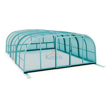 Retractable Aluminum Kit Screened In Inground Pool Enclosure