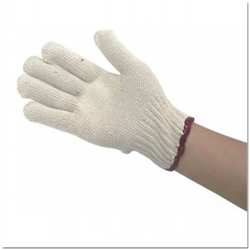 cotton gloves knitted with high quality