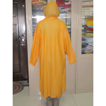 Adult Reusable Printed PVC Raincoat