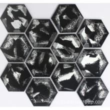 BLACK AND WHITE GLASS MOSAIC