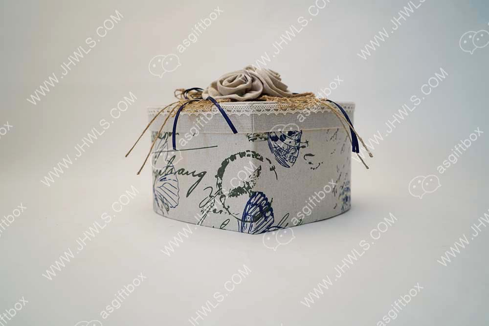 Printed linen handset cosmetic box
