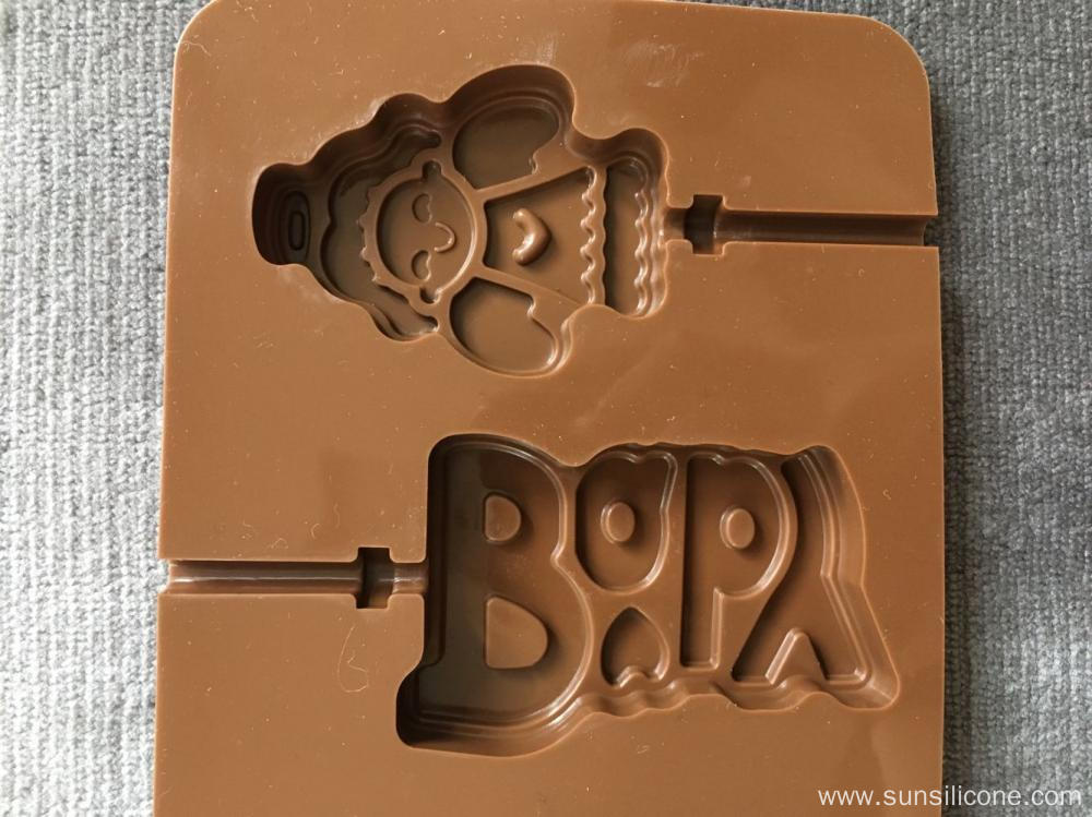 Angel cartoon lollipop chocolate mold silicone letter tool