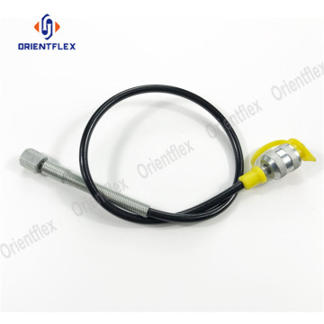 High pressure wire braided hydraulic pressure testing hose