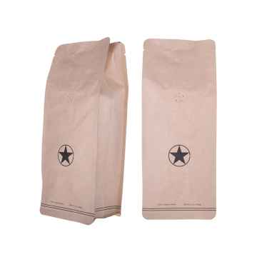 Biodegradable 100% Recycle Coffee Kraft Paper Bakery Food Bag