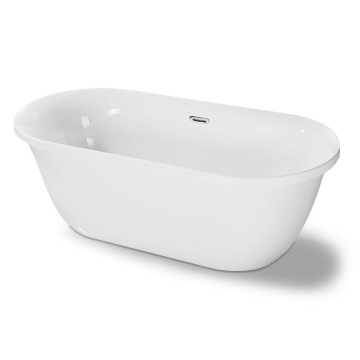 Corner Deep Soaking Freestanding Bathtub
