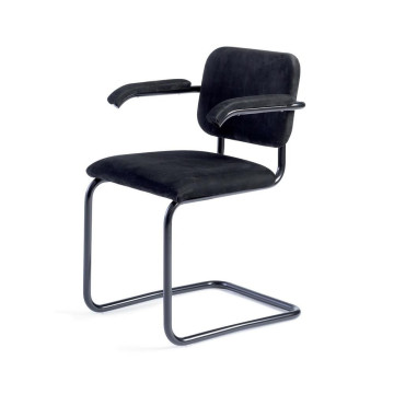 Europe style for for Full Leather Dining Chair,Aniline Leather Dining Chair,Modern Leather Dining Chair Manufacturer in China Marcel Breuer tubular steel chair Knoll Cesca chair supply to India Exporter