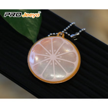 Reflective Safety Lemon PVC Keychain Kids Pendant