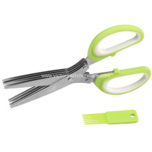 Fast Delivery for Ceramic Food Scissors kitchen cutting shears with cleaning brush export to Indonesia Importers