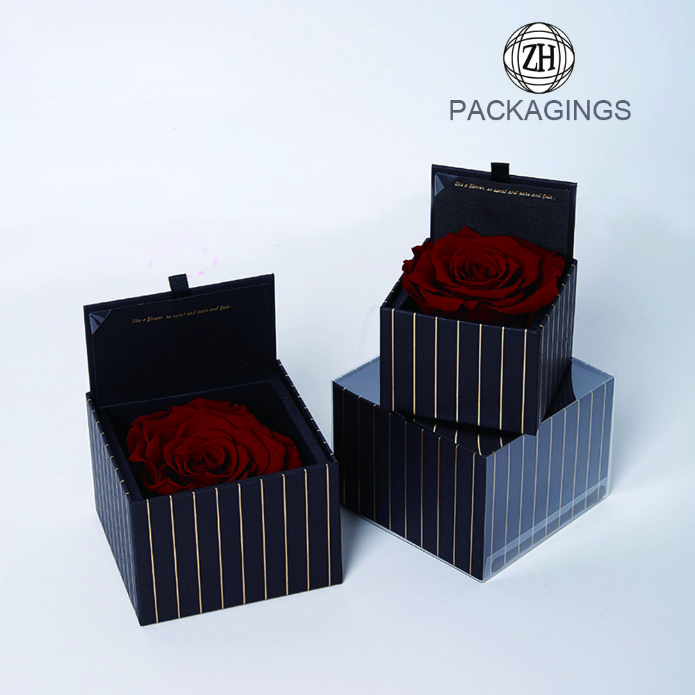 Luxury rigid flower delivery box fancy box