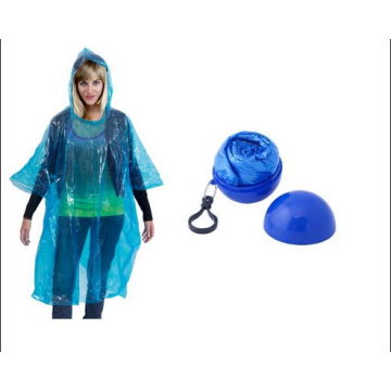 Hot sale for PE Poncho Cheap Disposable Rain Ponchos With Ball export to British Indian Ocean Territory Importers