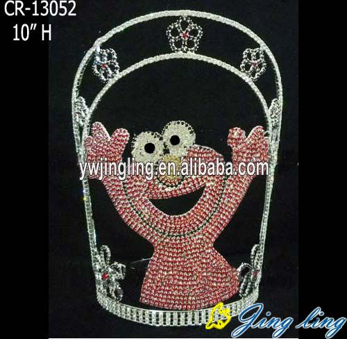 Jingling Fashion red flag shape cute animal crown