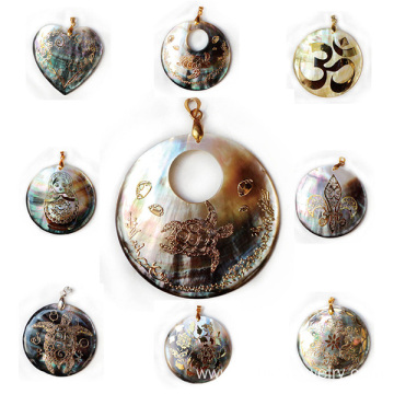 Natural Shell Craftwork Pendant Jewelry Handmade Necklaces