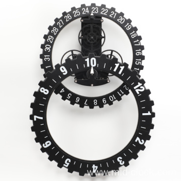 Big black clock wall clock