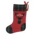 Christmas stocking with scottish style