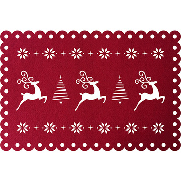 Christmas dining table mat with cute reindeer pattern