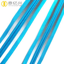 Long chain heavy duty reflective zipper fancy zipper