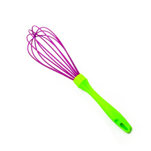 High quality plastic handle silicone egg whisk