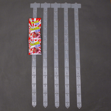 hanging clip strips for shelf edge retail display