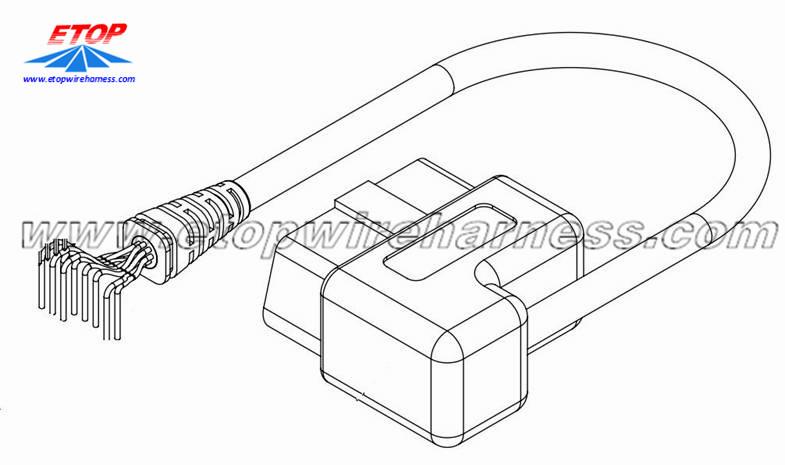obd diagnostic connector for automobile china manufacturer
