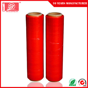 Red stretch film wrap for furniture