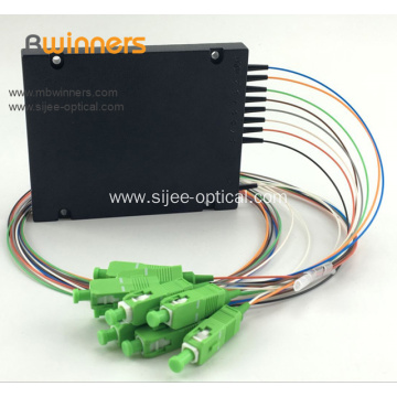 1x8 Cassette Type Optical Fiber Optic Splitter