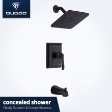 Oil-rubbed Bronze Bath Wall Mounted Shower Mixer Set