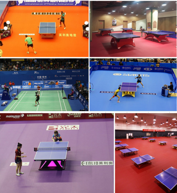 Table Tennis PVC Sports Flooring 2