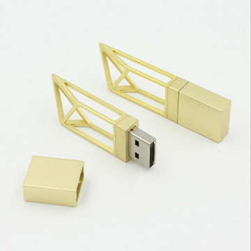 metal hollow building usb 2.0 flash pen drive