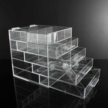Customized for Acrylic Cosmetic Organizer Clear Acrylic  Bathroom Makeup Organizer Drawers supply to Russian Federation Manufacturer