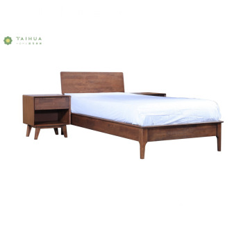 Full Solid Home&Hotel Wood Single Bed