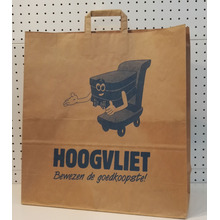 paper shopping bags with flat handle