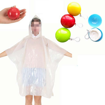 Customized logo Colorful  disposable pe rain poncho