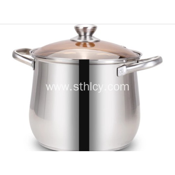 Stainless Steel Belly Shape Deep Soup Pot