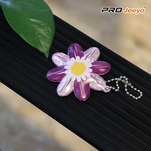 Kids Bag Decorative Purple Flower PVC Pendant