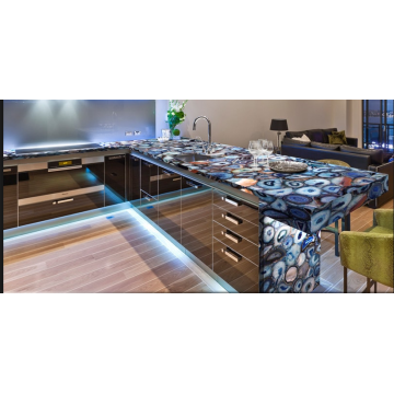 Semiprecious Blue Agate Countertop