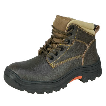 Rubber Sole Safety Shoes with leather linning