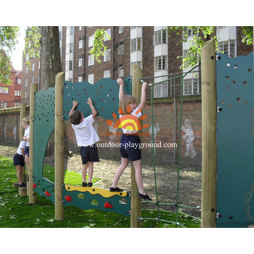 Climbing Rope Double Wood Panels With Climber