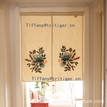 2017 New arrival Lu Embroidery Door Window Curtain for living room