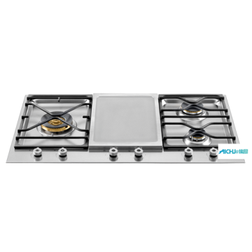 36 Segmented Cooktop 3-Burner and Griddle