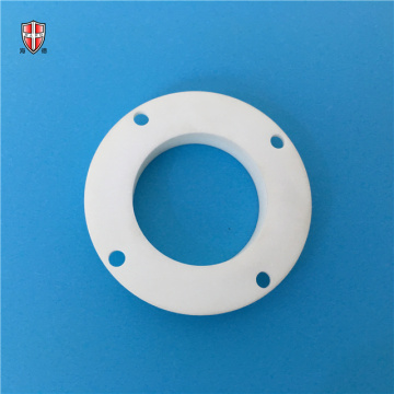 isolated ivory alumina ceramic disc plate flange